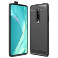 Brushed TPU OnePlus 7 Pro Cover - Carbon Fiber - Black