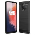 OnePlus 7T Brushed TPU Case - Carbon Fiber