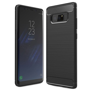 Samsung Galaxy Note 8 Brushed TPU Case - Carbon Fiber