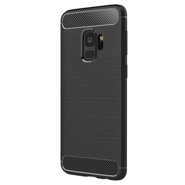 Samsung Galaxy S9 Brushed TPU Cover - Carbon Fiber