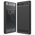 Sony Xperia XZ1 Compact Brushed TPU Case - Carbon Fibre