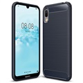Brushed TPU Huawei Y6 Pro (2019) Cover - Dark Blue