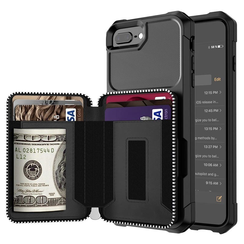 Business Style iPhone 7 Plus / 8 Plus TPU Case with Wallet