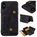 Cardholder Series iPhone X / iPhone XS Magnetic Case - Black