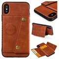 Cardholder Series iPhone X / iPhone XS Magnetic Case - Brown