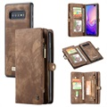 Caseme 2-in-1 Multifunctional Samsung Galaxy S10 Wallet Case - Brown