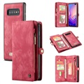 Caseme 2-in-1 Multifunctional Samsung Galaxy S10 Wallet Case - Red