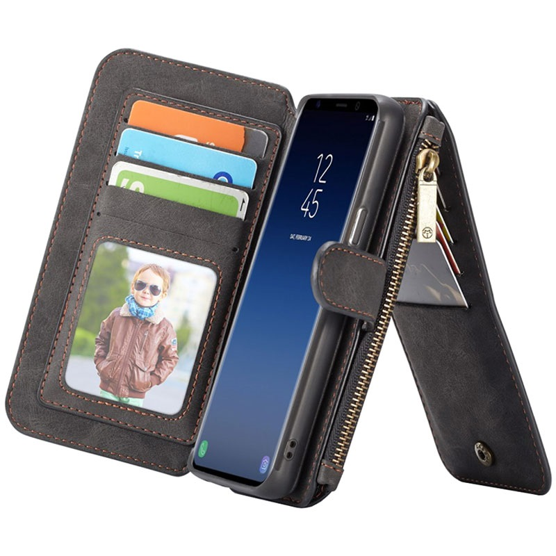 new style b78d2 64d20 Samsung Galaxy S9 Caseme 2-in-1 Wallet Case with Magnetic Cover