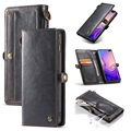 Caseme Luxury Detachable Samsung Galaxy S10+ Wallet Case - Black