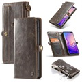Caseme Luxury Detachable Samsung Galaxy S10+ Wallet Case - Brown
