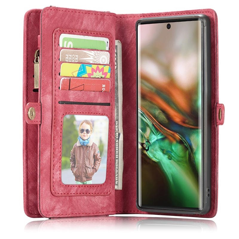 Caseme Multifunctional Samsung Galaxy Note10+ Wallet Case - Red