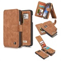 Samsung Galaxy S7 Caseme Multifunctional Wallet Leather Case - Brown