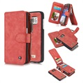 Samsung Galaxy S7 Caseme Multifunctional Wallet Leather Case - Red