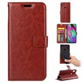 Classic Series Samsung Galaxy A40 Wallet Case - Brown