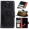 Huawei P Smart Classic Wallet Case with Kickstand - Black