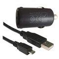 Code Mini 2.1A USB / MicroUSB Car Charger - Black