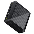 Compact Solar Power Bank - 10000mAh, 3xUSB-A - Black