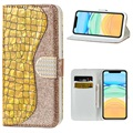 Croco Bling Series iPhone 12 mini Wallet Case