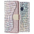 Croco Bling Samsung Galaxy A20e Wallet Case