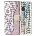 Croco Bling Samsung Galaxy A30, Galaxy A20 Wallet Case