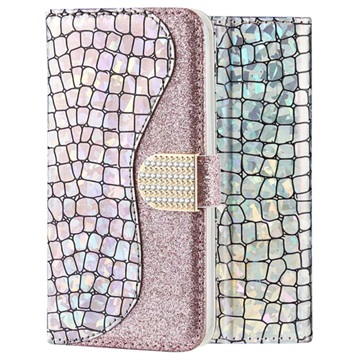 Croco Bling iPhone XS Max Wallet Case