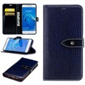 Huawei Enjoy 6s, Honor 6c Crocodile Wallet Case - Dark Blue