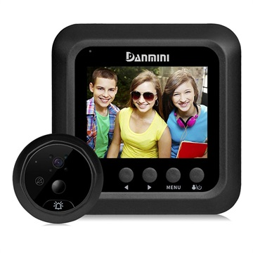 Danmini Q5 Doorbell Camera with Night Vision - Black
