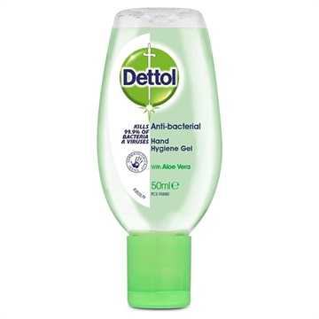 Dettol Antibacterial Hand Cleaning Gel - Aloe Vera - 50ml