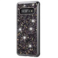 Diamond Series Samsung Galaxy S10 Hybrid Case - Black