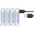 Doublepow MicroUSB Rechargeable AAA Battery 1000mWh - 4 Pcs.