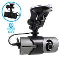 Dual Lens DVR Car Camcorder with GPS Function R300