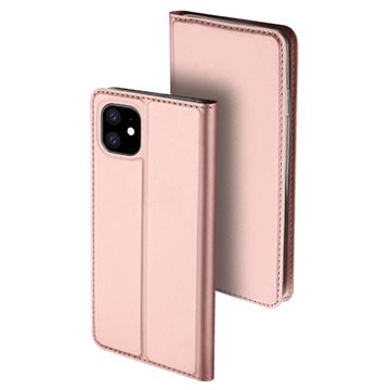 Dux Ducis Skin Pro iPhone 11 Flip Case with Card Slot - Rose Gold