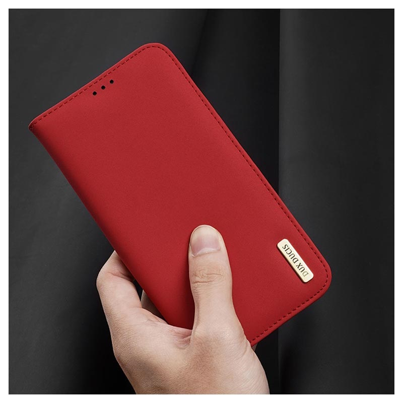 Dux Ducis Wish Series iPhone 11 Pro Max Wallet Leather Case - Red
