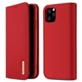 Dux Ducis Wish iPhone 11 Pro Wallet Leather Case - Red