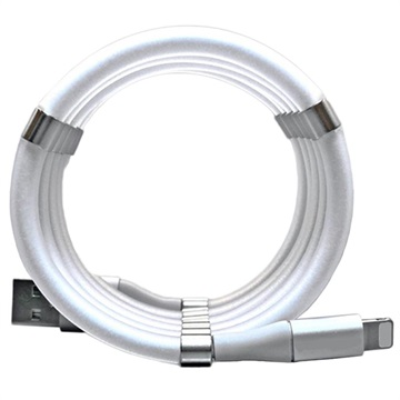 Easy Coil Magnetic Lightning Charging Cable - 1m - White