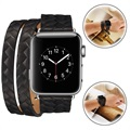 Fancy Series Apple Watch Woven Strap - 38mm - Black