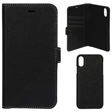 Essentials Detachable iPhone XS Max Wallet Leather Case