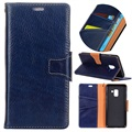 Samsung Galaxy A8+ (2018) Exclusive Wallet Leather Case - Blue