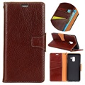Samsung Galaxy A8+ (2018) Exclusive Wallet Leather Case - Coffee