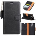 Sony Xperia L2 Exclusive Wallet Leather Case - Black