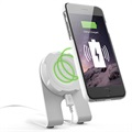 Exelium Magnetic Wireless Charging Desk Station - White