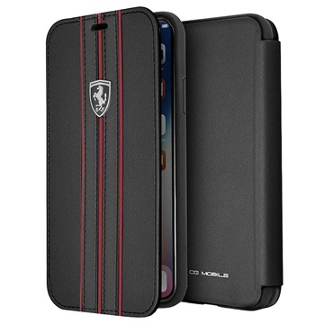 Ferrari Scuderia Off Track Collection iPhone XS Max Flip Case - Black