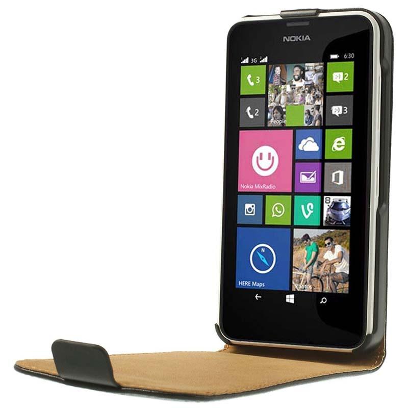 Nokia Lumia 630, Lumia 630 Dual Sim Vertical Flip Leather