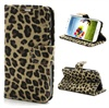 Samsung Galaxy S4 I9500 Wallet Leather Case - Leopard - Beige