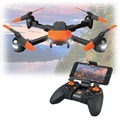 Forever Flex Foldable FPV Drone - Black / Orange