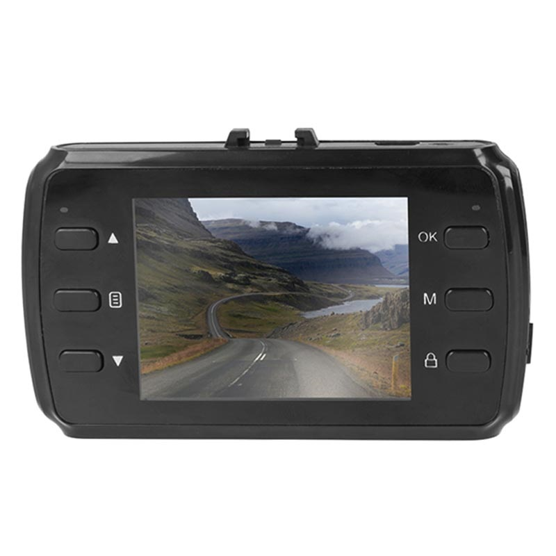 "Forever VR-120 HD DVR Car Camera with 2.4"" LCD Display - Black"