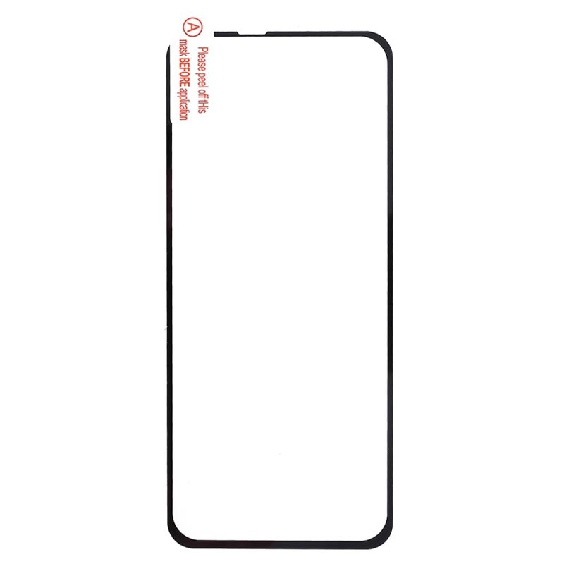 Full Cover Motorola One Vision Tempered Glass Screen Protector - Black