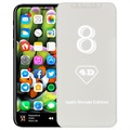 iPhone X Full Size 4D Glass Screen Protector - White