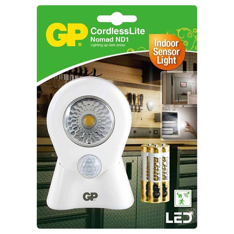 GP Lighting Nomad LED Light with Motion Detector - White