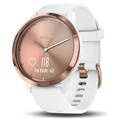 Garmin Vivomove HR Sport Smartwatch - S/M - White / Rose Gold